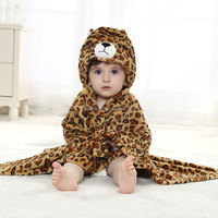 sex animal all hot baby cute animal clothes baby pajamas towel with hood QWKO-2031