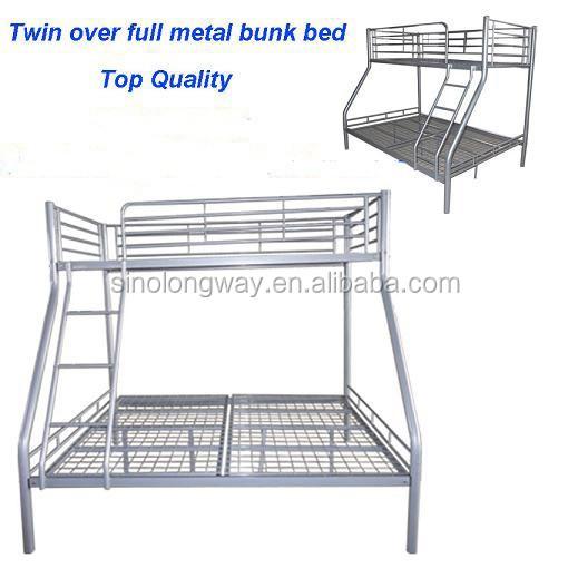 Wrongt Iron Metal Bunk Bed Twin Over Full Steel Bed Buy