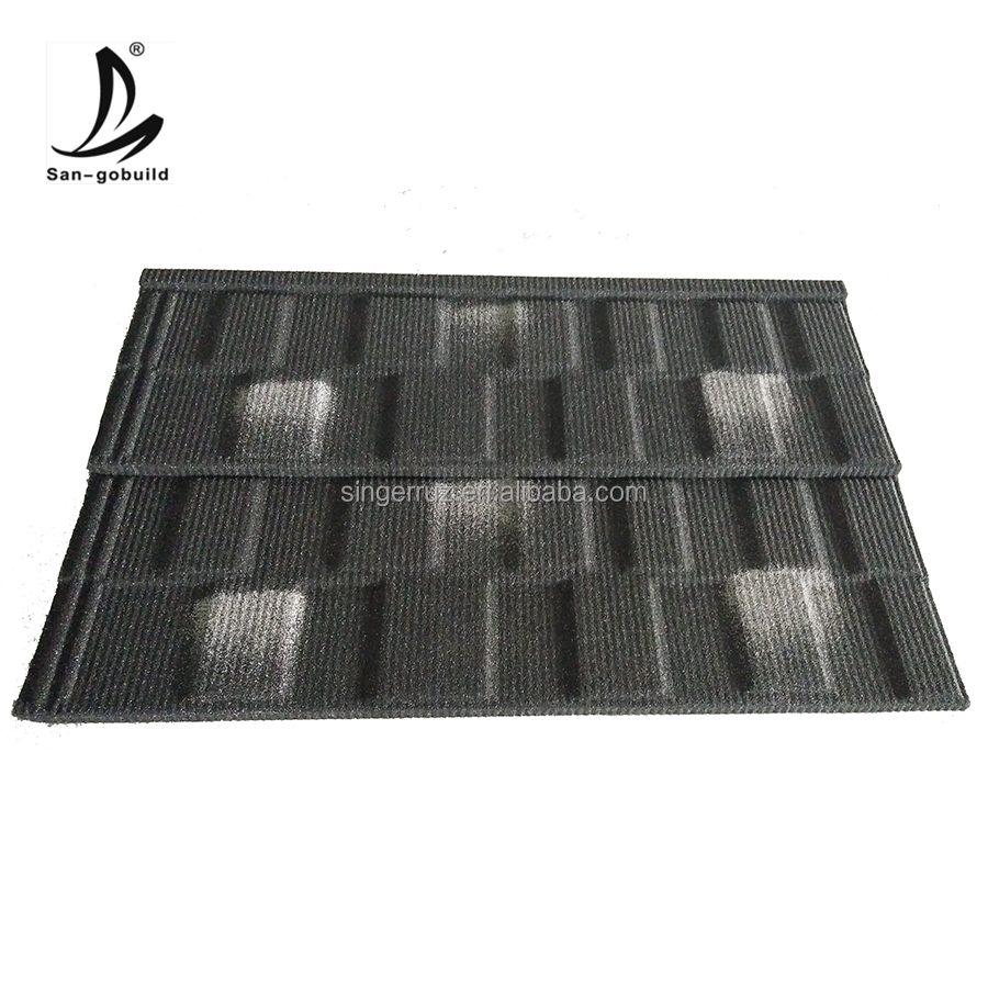 Lightweight Galvanized sheet stone coated metal roofing sheet materials, heat resistant corrugated roofing sheets