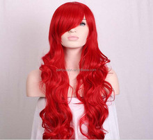 80cm Halloween Costume Party Cosplay Long Curly Hair Wig Synthetic Lace Front Cosplay Wig