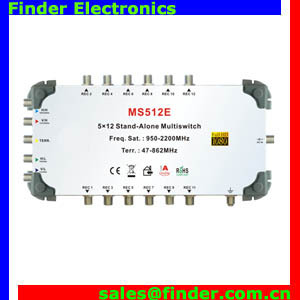 China supplier 5 in 12 output DiSEqC 2.0 satellite multiswitch