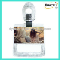 Beautiful transparent advertising bus grab handle