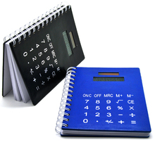 Solar Panel Electronic Leather Notebook Calculator