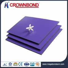 Crownbond wall panel plate,wall decorate panel alucobond aluminum composite,wall covering aluminum composite panel price