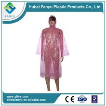 CPE handiness disposable lady's plastic raincoat