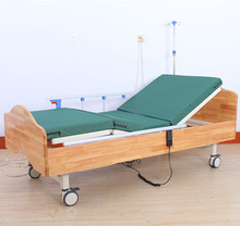 2-function Electric China used medical hospital furniture type nursing bed home care sick bed with Wooden bed frame