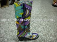 high heel of PVC rain boots