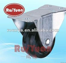 High quality cheaper Small light-duty Hard rubber low profile fixed caster