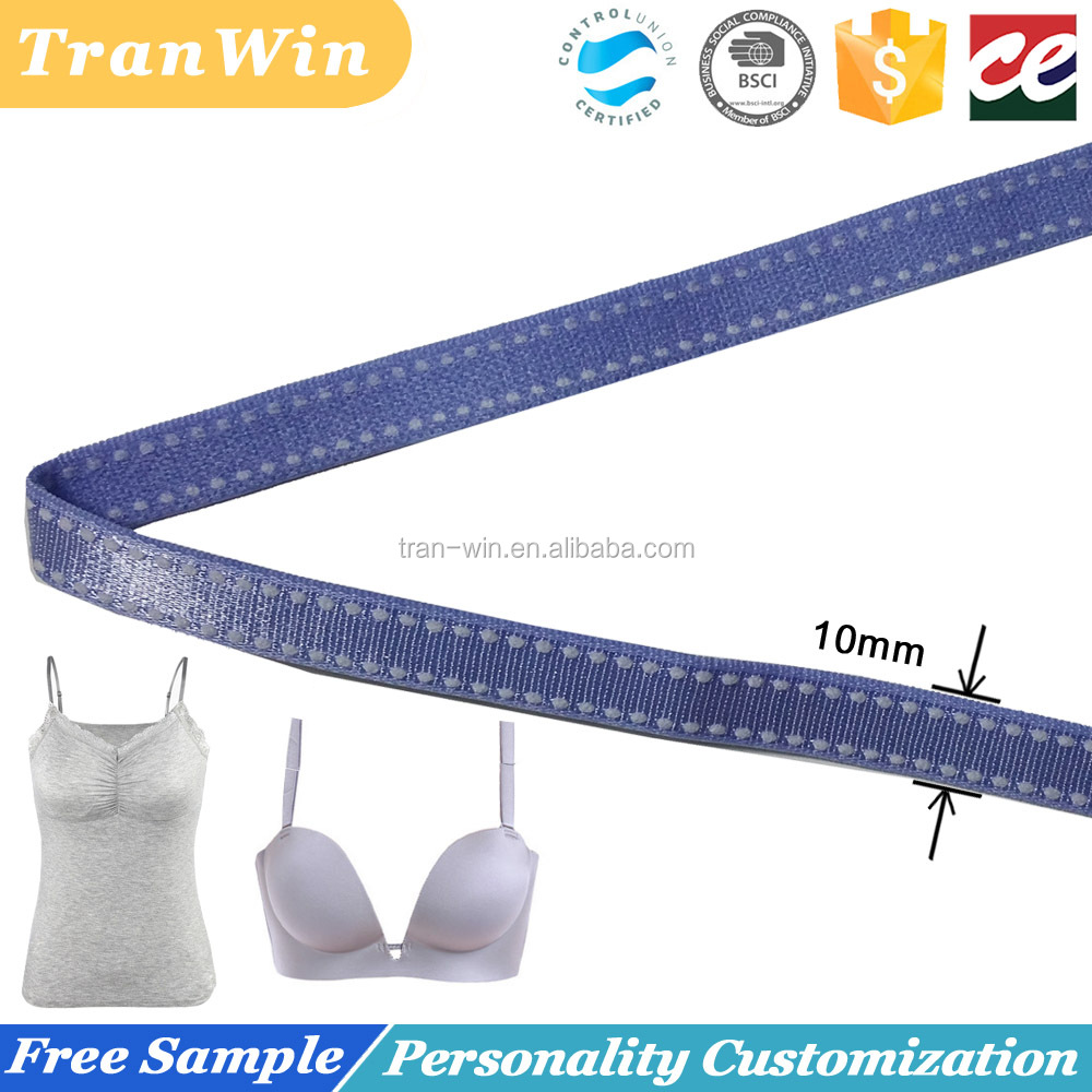 10mm customized jacquard elastic bra shoulder strap