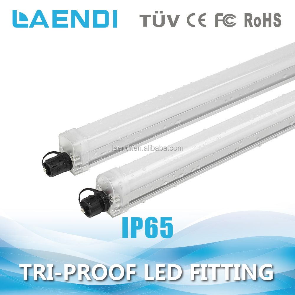 Hight power 4ft 36w 2ft 18w integrated led tube lighting IP65 tri-proof linear led batten light