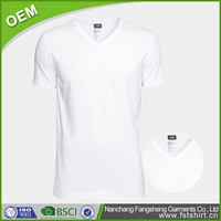 Summer breathable blank plain white t-shirts