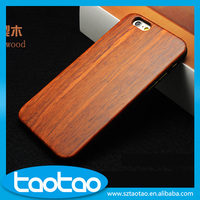 Wholesale Hot sale Genuine 100% Natural wooden handmade Wood PC Cover for iPhone 6 6s Wood Colorful bumper PC Frame Cover