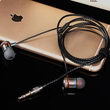 Shenzhen factory braided cable handsfree headphones with customized package