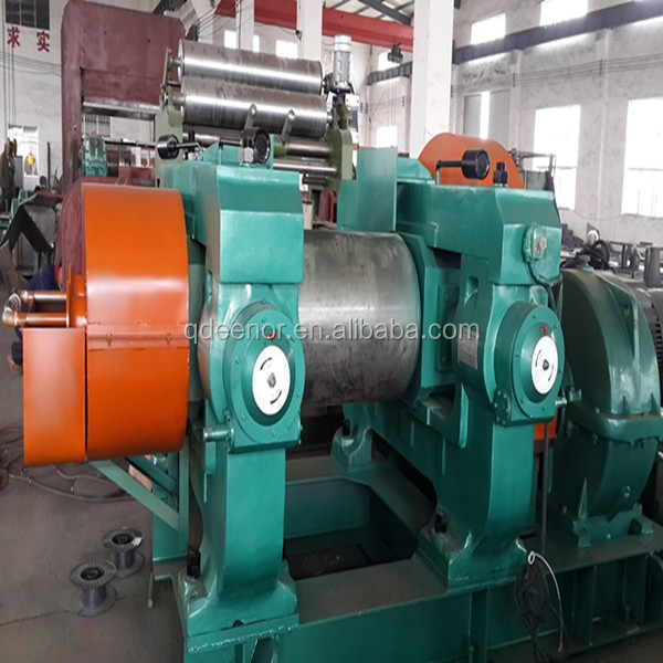 Double Roller Tyre Crusher / Waste Rubber Roller Grinding Machine