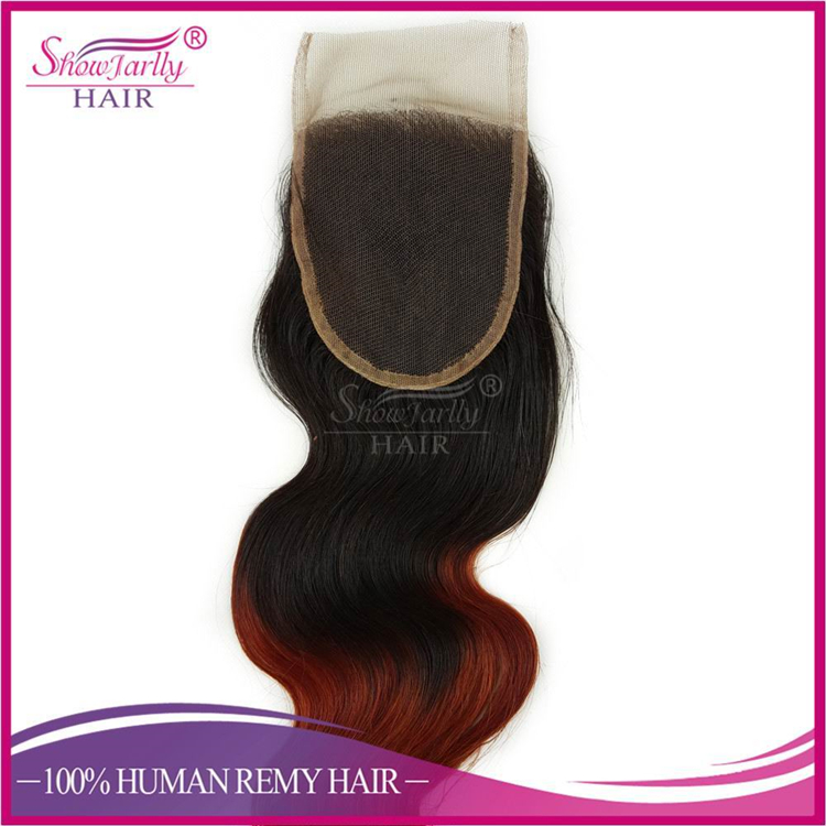 Brazilian Human Hair Bundles color 350 hair weave Bundles 100g Dark Root Hair Weft With Lace Closure