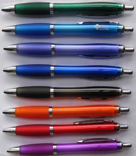 popular low MOQ promotional plastic ball point pen