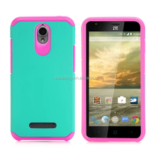 PC+Silicone hybrid case skin cover for ZTE 820, Dual layer case for ZTE 820