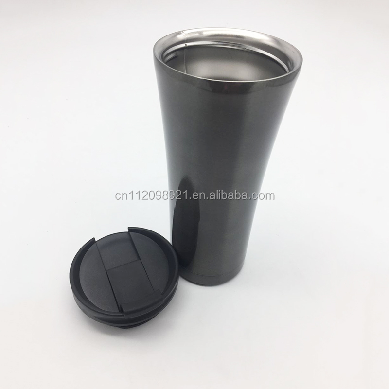450ml Double wall stainless steel thermo coffee mug vacuum cup - Custom 18/8 stainless steel travel mug with bpa free