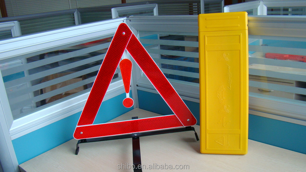 Emergency CAR kit -warning triangle high reflective and easy use- sales from factory
