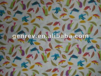 viscose and polyester fabric flower printed single jersey knitting fabrics