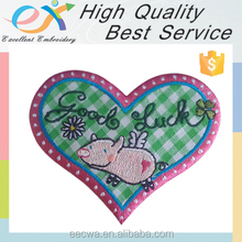 Trade Assurance iron-on embroidery heart applique