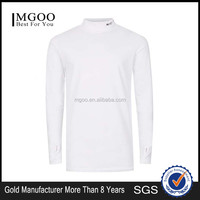 MGOO New Arrival Custom High neck T-shirt Long Sleeves Shirt Fashion Roll Neck Print 95 Cotton 5% Elastane 180g