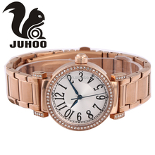 New arrival zinc alloy watch luxury design dial with diamond rosegold plating for unisex