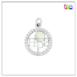 Hollow circle Charm with hope letter