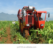 Automatic tobacco leaf harvester