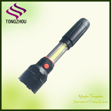 6V 3W XPE LED +3W COB Bright Multipurpose work light/ magnet led flashlight/ plastic work torch
