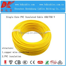solid conductor pvc insulated single core wire lszh fire-resistant cable halogen free and low smoke flame retardant cable