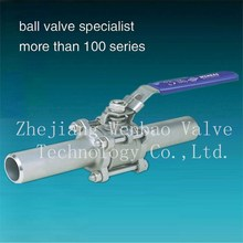3PC extended Body Butt weld Cast Steel ball valve,WCB/CF8/CF8M