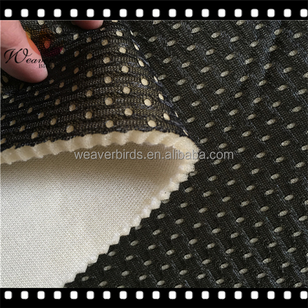 3mm FR treatment foam laminated with tricot and mesh fabric for inner helmet of firefighter