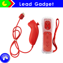 high quality for nintendo wii Remote + Nunchuk controller for wii remote and wired nunchuck