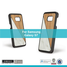 OEM ODM Phone Case Factory for Blank Back Samsung Galaxy S7, Ultra Slim Custom Bamboo Wood Marble Cases for Galaxy S7 PC Cover