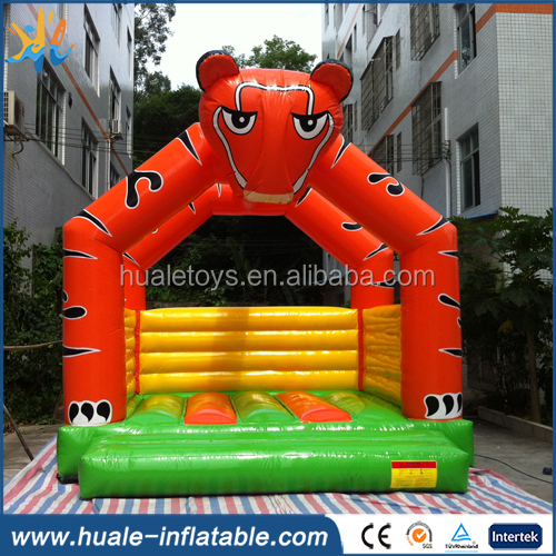 High quality inflatable bouncer, inflatable tiger jumping house