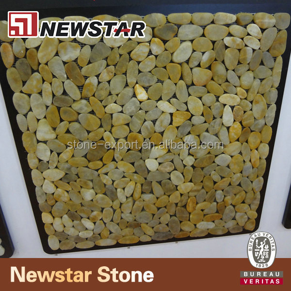 Polished pebble tiles
