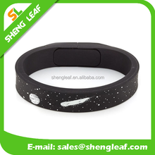 Hot customized Silicone Bracelet USB Flash Memory Drive