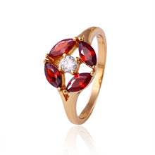 Fashion Fine Cubic Zircon Diamond Jewelry Ring with 18k Gold Plated