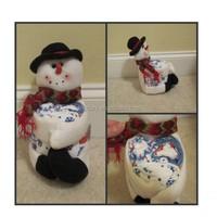 Christmas Holiday Snowman kitchen towel gift set bath hand towel set of 3