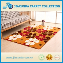 anti-slip rubber chair mat / coral fleece printed carpets rugs mat