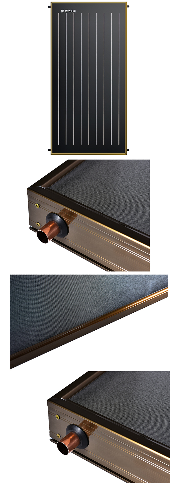 SHe-AO Low Price Copper Tube Anodized Oxidation Absorber Coating Solar Hot Water System For India Market