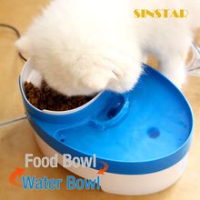 Resin dog sculpture pet feeder bowl & Water feeder big decor