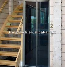 villa elevator home use manually open glass door