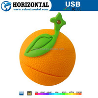 Popular orange stick new shape USB memory sticks, PVC orange USB flash drives