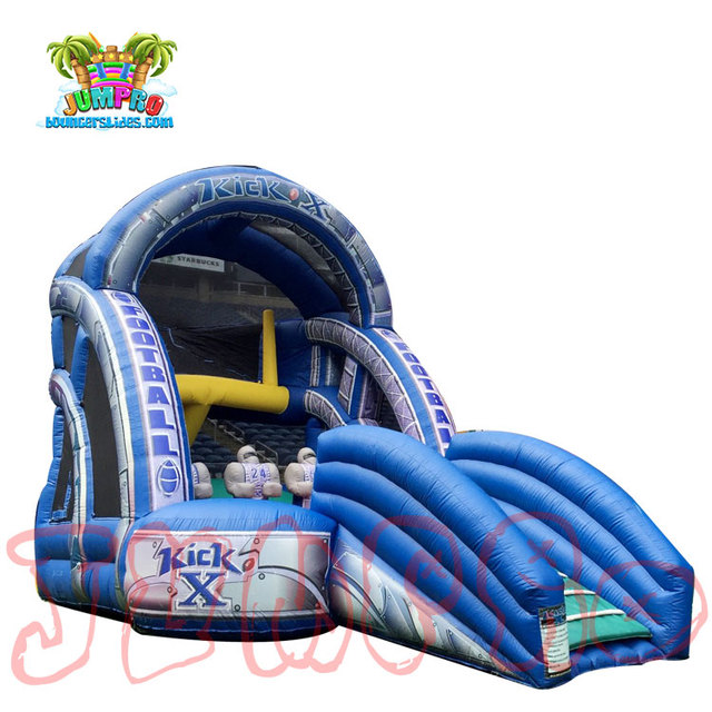 Fun inflatable kick x football kick game,inflatable super bowl football touchdwon game for sale