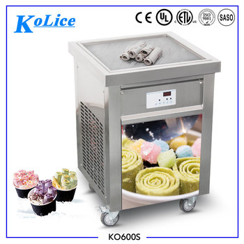 Free shipping square pan egypt rolled fry ice cream machine making ice cream roll with good factory price CE