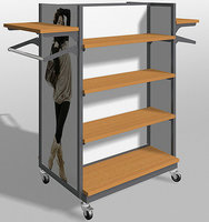high end 4 way clothing display rack and display cabinet furniture