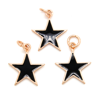 2016 Christmas Jewelry Accessories Silver Plating Tiny Enamel Star Charm for DIY Bracelet ECR0111