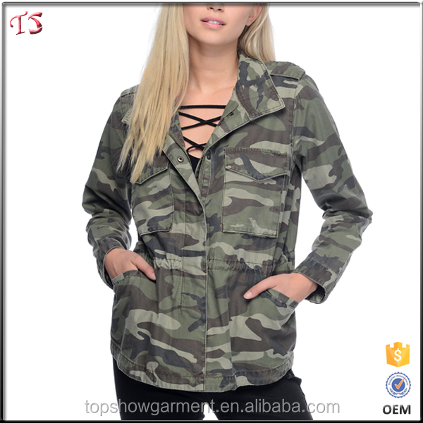 Guangdong factory direct clothing camo army jacket women